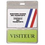 Porte-badge vinyle avec poche